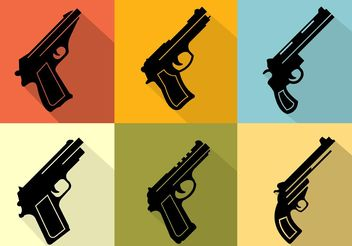Gun Collection Icons - Free vector #142707