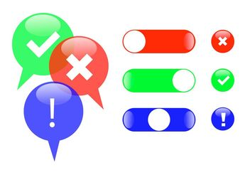 Correct Incorrect Button Set - Kostenloses vector #142757