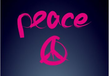 Peace Logo - Free vector #142767