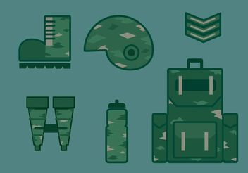 Military Vector Icon Set - Free vector #142847