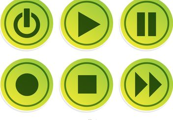 Media Plyer Green Button Vector - vector gratuit #142857