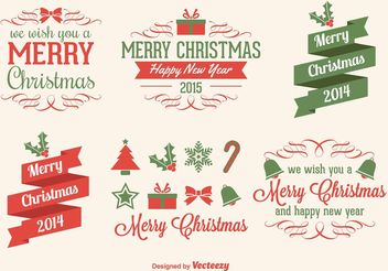 Christmas Vector Elements - vector gratuit #142927