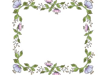 Free Vector Floral Frame - Free vector #142937