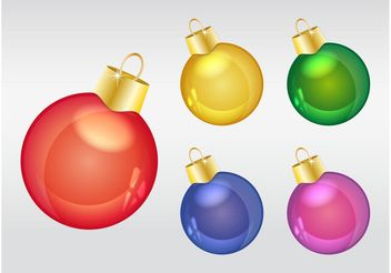 Christmas Ornaments - Free vector #142977
