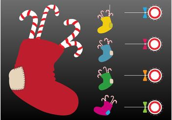 Christmas Stockings Vector - Free vector #142987