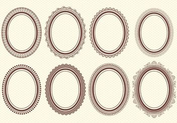 Oval Vector Frames - Free vector #143047