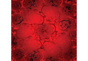 Red Floral Ornaments - vector gratuit #143067