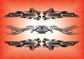 Vector Tribal Tattoos - Free vector #143157
