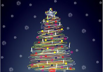 Holiday Tree - vector gratuit #143167