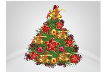 Decorated Tree Vector - vector gratuit #143187