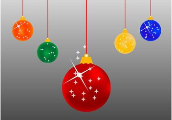 Christmas Balls Cartoon - Free vector #143217