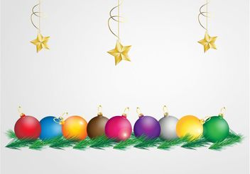Colorful Christmas Graphics - Free vector #143237