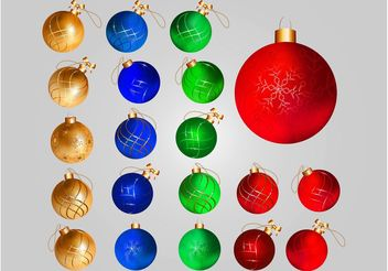 Christmas Balls Decorations - бесплатный vector #143257