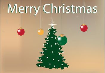 Christmas Tree Background - vector gratuit #143277