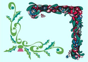 Floral Frame Corners - Kostenloses vector #143287