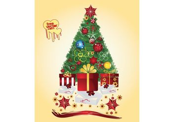Festive Tree - vector gratuit #143297