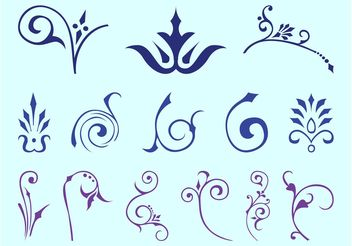 Swirling Floral Decorations - Kostenloses vector #143357