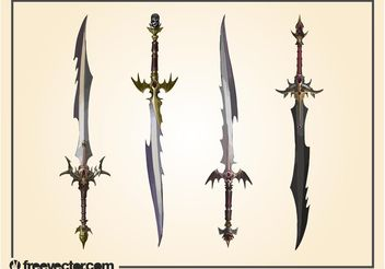 Fantasy Swords - Free vector #143367