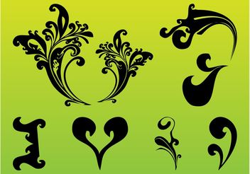 Decorative Scrolls Set - бесплатный vector #143377