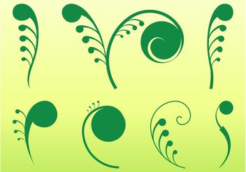 Plant Swirls Graphics - Free vector #143407