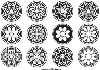 Decorative Circle Shapes - Free vector #143437