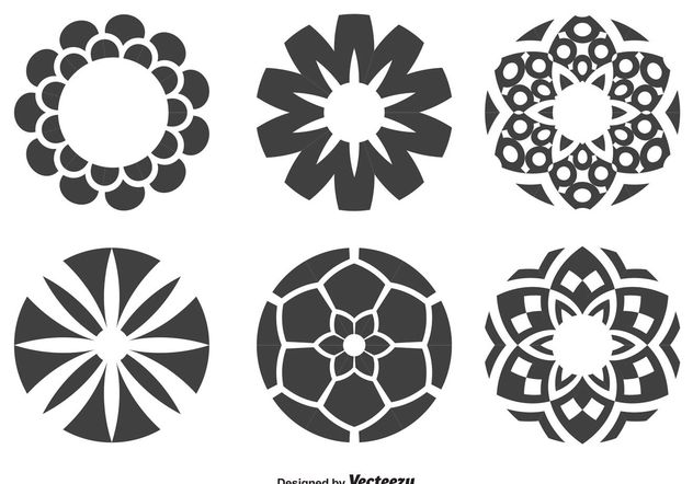 Decorative Circle Shapes - vector gratuit #143457