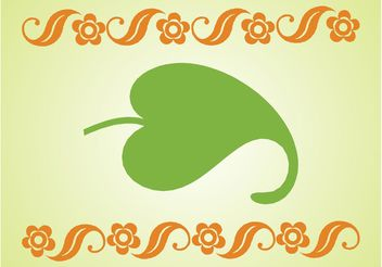 Curved Leaf Layout - бесплатный vector #143477