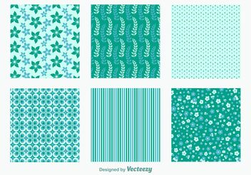 Spring Floral Patterns - vector #143567 gratis