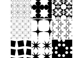 Black White Patterns - vector gratuit #143597