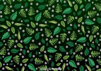 Spring leaves seamless pattern - vector #143607 gratis
