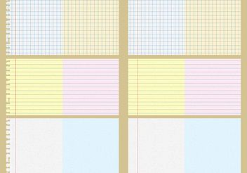 Vector Notebook Patterns - vector gratuit #143697