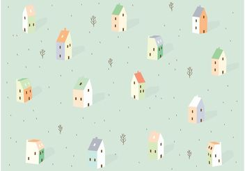 City Background Pattern Vector - бесплатный vector #143707
