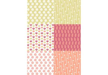 Pastel Floral Patterns - vector gratuit #143727
