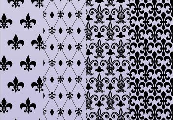 Fleur De Lis Patterns - Free vector #143737