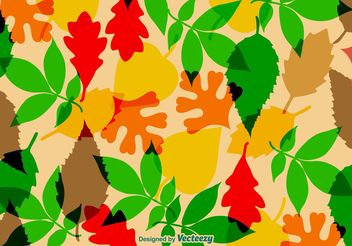 Autumnal Leaves Vector Texture - Free vector #143747