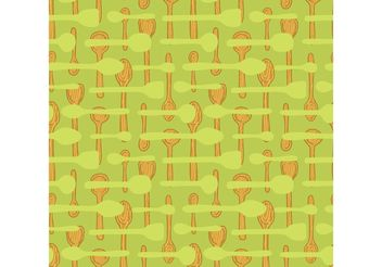 Free wooden spoon seamless pattern vector - vector gratuit #143837