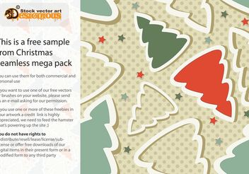 Free Christmas Seamless Pattern - vector gratuit #143867
