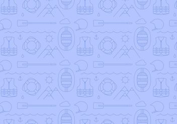 River Rafting Pattern Vector - бесплатный vector #143917