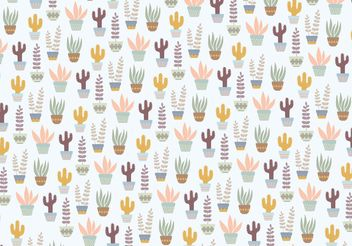 Plants Pattern Background - vector #143957 gratis