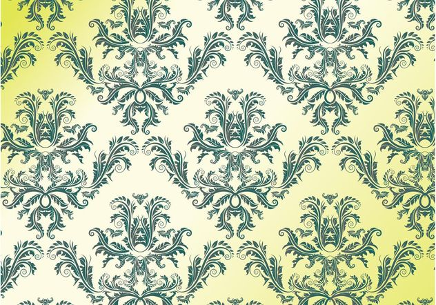 Retro Damask - Free vector #143997