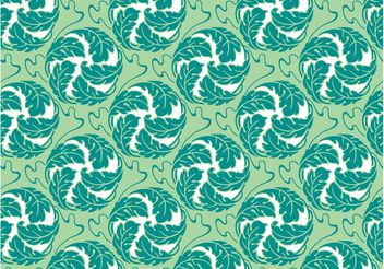 Round Flowers Pattern - Free vector #144037
