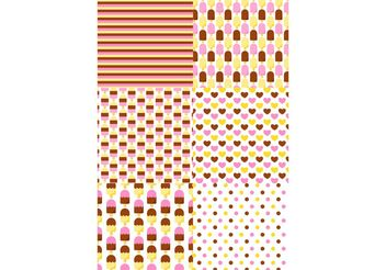 Icecream Pattern Set - Kostenloses vector #144127