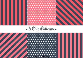 Free Retro Patterns - vector gratuit #144157