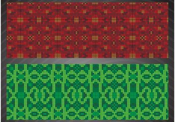 Mosaic Patterns - Free vector #144207