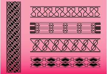 Strip Patterns - Free vector #144217
