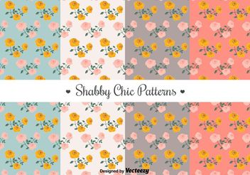 Free Shabby Chic Patterns - vector gratuit #144237