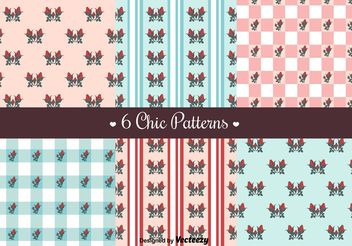 Free Shabby Chic Patterns - vector gratuit #144257