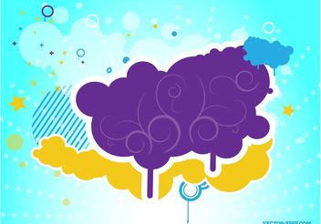 Colorful Cloud - Free vector #144367