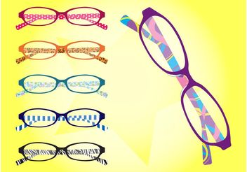 Glasses Frames - vector gratuit #144387