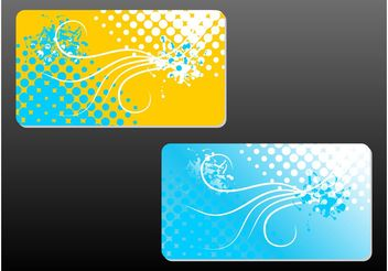 Floral Business Cards - vector gratuit #144407